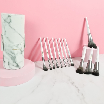 MARBLE BRUSH LEATHER CASE 12PCS SET